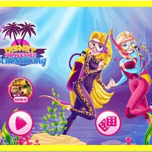 Disney Princesses Scuba Diving