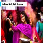 Indian Girl Holi Jigsaw
